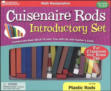 Cuisenaire Rods Set of 74 Plastic
