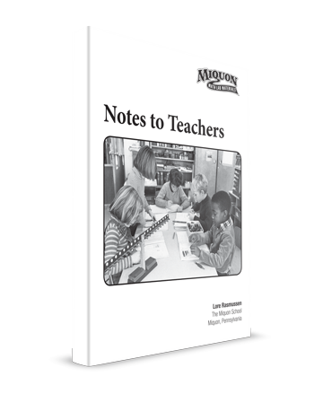 Miquon Math Teacher Book Notes to Teachers